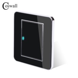 button click Canada - Wall Light Switch Coswall 1 Gang 2 Way Random Click Push Button With LED Indicator Acrylic Crystal Panel