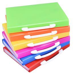 220d8732c5a Hot colored Pockets Expanding Files Folder A4 Expandable File organize  Portable Accordion File Folder Office Document Briefcase bags