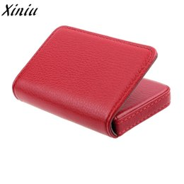 $enCountryForm.capitalKeyWord Australia - Casual Men Leather Exquisite Magnetic Attractive Card Case Business Card Case Box Holder Clutch Male Fashion High Quality