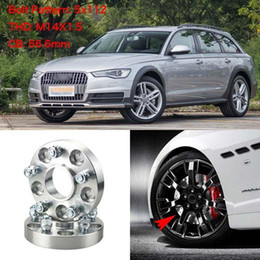 """4pcs 1"""" Wheel Spacers Adapters 5 Lug 5x4.4"""" 5x112-14x1.5 Studs For Audi A6 2012+ on Sale"""