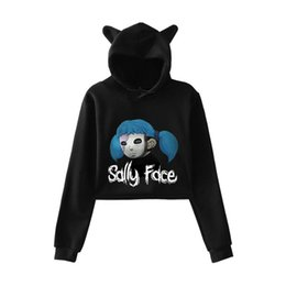 36226f9ba45c1a FADUN 2018 Sally Face fashion trend sala Cat Crop Top Women summer Hoodies  Sweatshirt Sexy hot Kpop Harajuku plus Size 2XL