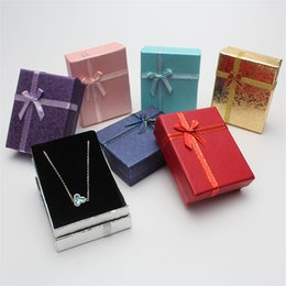 earring pieces NZ - 9*7*3cm Shiny Jewelry Box Necklaces Earrings Bracelets Boxes Gift Packing Wholesale Display Classic Bowknot 1 Piece
