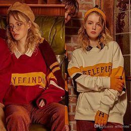 Women Velvet Clothes Australia - 2018 Harry Potter Women's Hoodies co-branded SP Academy plus velvet AO cooperation clothing cec sweater Hip-hop Loose long sleeve pullo