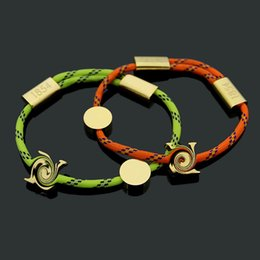 $enCountryForm.capitalKeyWord NZ - 2019 new fashion good luck Titanium steel V-letter orange green rope pull-down button rope bracelet for ladies in foreign trade