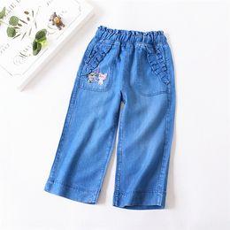 Wholesale fans pants resale online - summer cool Jeans children s panty children s jeans ankle length pants girls summer cool pants cat Fan Zhi