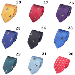 $enCountryForm.capitalKeyWord Australia - Embroidery Business Neckties For Mens Fashion Accessories Mens Neck Ties Wedding Clothing Suits Groom Neck Ties Mix Order