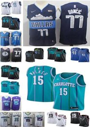 345e80df6 2019 NEW MEN 77 Luka   Doncic New Mavericks Jersey Dirk 41 Nowitzki Kemba  15 Walker jersey Hornet Jersey Stitched Jerseys S-2XL