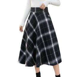cb4ad6b5a Sexy Harajuku Plaid Skirts Womens Gothic High Waist Long Skirt Streetwear Kawaii  Korean Midi Skirt