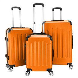 США корабль 3 шт чемоданы багажа сумка 20 дюймов 24 дюйма 28 дюймов АБС спиннер багаж hardshell легкий чемодан с двойной счетчик на Распродаже