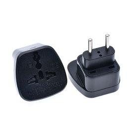 $enCountryForm.capitalKeyWord UK - 100pcs European Travel Adapter With Safety Shutter, UK AU US Socket to EU Plug Converter Electrical Plug Europe Travel Charging Power Plug