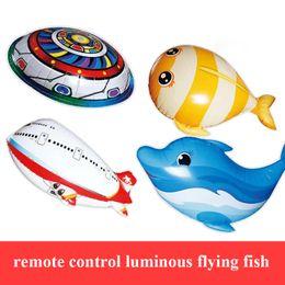 $enCountryForm.capitalKeyWord NZ - Remote Control Air Swimming Shark Luminious Flying Clown Fish Air Ballon Inflatable Helium RC UFO Plane Kids Gift Toy
