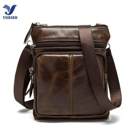 Genuine Leather Crossbody Handbags Wholesale Australia - Wholetide- Small Genuine Leather Messenger Bags For Men Male Casual Real Cowhide Single Shoulder Bag Crossbody Zipper Handbags Man Mini Bag