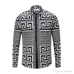 Fine Shirts Australia - New luxury designer Medusa men's 3-D Tiger color mixed luxury men's fine-fitting cotton shirt men's printed casual business s