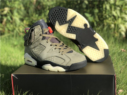 Wholesale 2019 New Travis Basketball Shoes Cactus Jack Medium Olive GLOW IN THE DARK Army Green Suede M s Mens Sports Sneakers Size