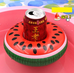 kids duck pool NZ - Inflatable Cup holder Float Flamingo yellow duck Cup Holders Coasters Drinks Holder mattress floating swim pool tubes ring kids childre toy
