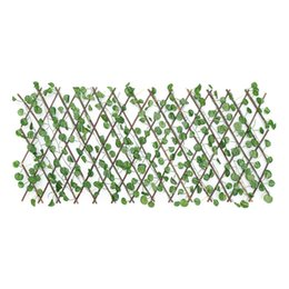 Expandable Artificial Faux Ivy Leaf Hedge Panels On Roll Garden Screen Fence Decorations on Sale
