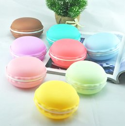 Ring Box Green Australia - Large Portable Candy Color Cute Macarons Storage Box For Ring Necklace
