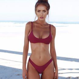 $enCountryForm.capitalKeyWord Australia - COSPOT Bikini 2019 Sexy Women Swimwear Brazilian Bikini Push Up Swimsuit Solid Beachwear Bathing Suit Thong Biquini Bikini Set T5190605