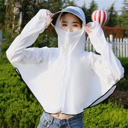 fish scarves Canada - Lucyever White Pink Summer Anti-UV Sun Hat Women Casual Removable Beach Hats Woman 5 Color Outdoor Fishing Walking Cap Mujer
