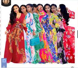 $enCountryForm.capitalKeyWord Australia - 2019 New Women's Dresses Sexy V-neck Chiffon Dresses with High Waist Printing beach holiday Long skirt Swimsuit nightclub dress S-2XL