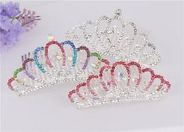 Hair Combs For Girls Australia - Bridal Hair Accessories Wedding Headpieces Women Girls Crystal Crown Tiaras Full Rhinestone Hair Combs Hair Jewelry for Children Kids