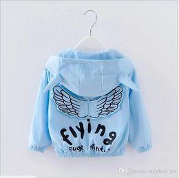 $enCountryForm.capitalKeyWord Australia - Retail 2017 Spring Autumn Baby Boys Girls Angel Wings Coats Outwear Kids Zipper Hooded Jackets Fashion Children Wind Coat 90cm-100cm-110cm