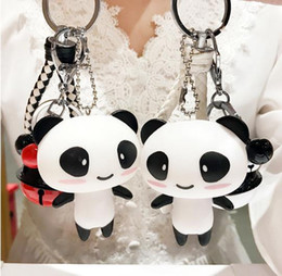 $enCountryForm.capitalKeyWord Australia - 2019 summer creative cute cartoon panda doll keychain men and women school bag ornaments car pendant personalized