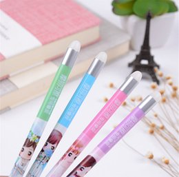 Discount 12 piece lipsticks - Silicone Eraser for Erasable Gel Pens Cute Cartoon Rod 12 Pieces per Lot Stationery School Supplies Special Silicone Era