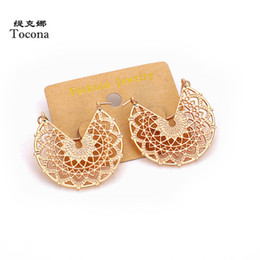 Wholesale Women Fashionable Tops Australia - Tocona Punk Top Quality New Fashionable Different Design Gold Color Stud Earrings For Women Girlfriend Earrings Jewelry 1699