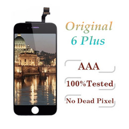 White Touch Screen Assembly Australia - 100% Original LCD For iPhone 6 Plus Touch Screen Display Digitizer Assembly Black White & Free DHL