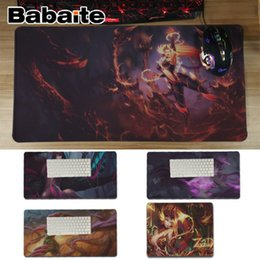 Wholesale Babaite New Arrivals LOL Zyra League of Legends Office Mice Gamer Soft Mouse Pad Unique Desktop Pad Game Lockedge Mousepad