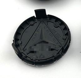 4pcs para el Benz coche cubo de la rueda Caps 75mm Estilos Centro Cubiertas de plata negro azul de la insignia de en venta
