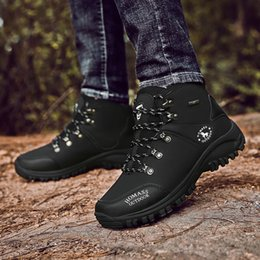 army green shoes Canada - Man Hiking Shoes Autumn Winter Mens Rock Climbing Shoes Black Army Green Trail Rubber Bottom Trekking Boots For Male