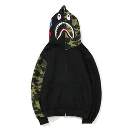 $enCountryForm.capitalKeyWord Australia - Teenager Hot Plaid Shark Hoodies Fashion Harajuku Cartoon Sweater Jacket WGM Full Zip Hoodie Fleece Cardigan Sweatshirt Coat Free Shipping