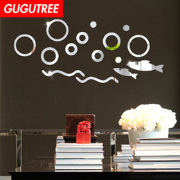 round glasses korean style Australia - Decorate Home 3D round cartoon mirror art wall sticker decoration Decals mural painting Removable Decor Wallpaper G-440