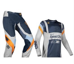 Fox Grey Australia - 2019 NAUGHTY FOX MX 360 Murc MX Light Grey Gear Set Motocross Suit Dirt Bike Sport Racing Jersey Pants Combo