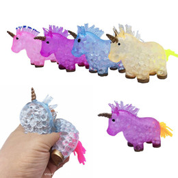 $enCountryForm.capitalKeyWord Australia - Funny Squishy Unicorn Grape Ball Beads Vent Mesh Ball Latex Squeeze Decompression Anti Stress Reliever Children Kids Novelty Toy