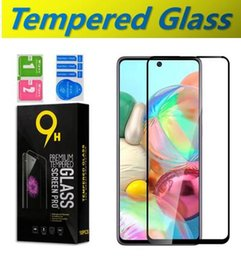 screen protector for galaxy s Australia - 9H Full Cover Tempered Glass For Samsung Galaxy Note10Lite S10Lite A 40 A50 60 M10 M20 30 S A71 A91 Anti-Scratch Screen Protector in Package
