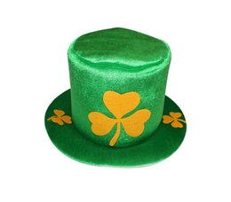 Wholesale St Patricks Day Clover Carnival Party Hats Green DIY Cap Men And Women Universal Keep Warm Windbreak National Day Custom Caps prE1
