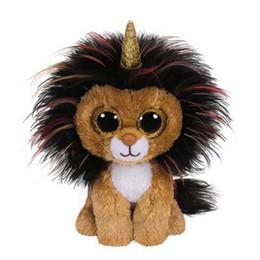 "$enCountryForm.capitalKeyWord UK - Ty Beanie Boos Stuffed & Plush Animals Ramsey the Lion With Horn Toy Doll 6"" 15cm"