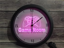 $enCountryForm.capitalKeyWord Australia - 0K984 Game Room Console APP RGB 5050 LED Neon Light Signs Wall Clock