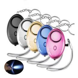 venda por atacado Forma 130db Egg Self Defense Alarm menina Mulheres de segurança protegem Alerta de Segurança Pessoal grito Keychain Alarm
