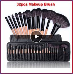 32 unids / set Pinceles de Maquillaje Profesional con bolsa Set Maquillaje En Polvo Pinceaux Maquillage Belleza Kit de Herramientas Cosméticas Sombra de Ojos bea117a DHL en venta