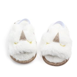 $enCountryForm.capitalKeyWord Australia - Fashion Faux Fur Baby Sandal Shoes Summer Cute Panda Infant Baby boys girls shoes soft sole indoor shoes for 0-18M