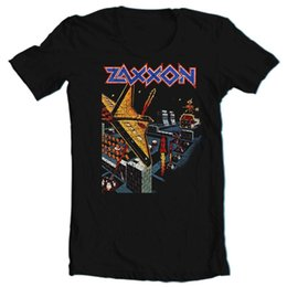 Chinese  Zaxxon T-shirt retro vintage arcade video game 1980's black cotton graphic tee Funny free shipping Unisex Casual Tshirt top manufacturers