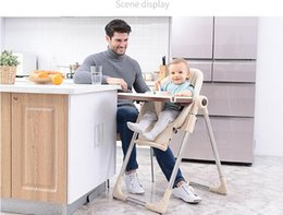 Portable Plastic Folding Table NZ - Authentic portable baby seat baby dinner table multifunction adjustable folding chairs for children High chair Antiskid chair
