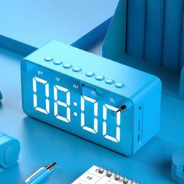 $enCountryForm.capitalKeyWord Australia - BT506 new clock alarm clock wireless bluetooth speaker mini mirror gift card collection broadcast small audio