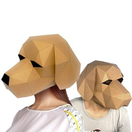 $enCountryForm.capitalKeyWord UK - 3D Puzzle Paper Stereo Animal Mask Cartoon DIY Free-cut Dance Party Christmas Gifts Toys Headgear Model Props Halloween Cosply Costumes