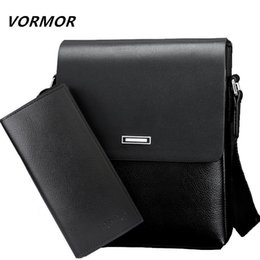 office cross body bags 2019 - VORMOR Men bag 2019 casual male messenger bags high quality PU leather shoulder bag office men's set discount offic