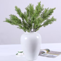 office bathroom decor NZ - Artificial Pine Cypress Plastic Evergreen Fake Plant Christmas Wedding Home Office Furniture Decor Bardian 6 2hq F1